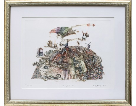"Grafika ""Gero ryto kavutė"", 52x63cm"