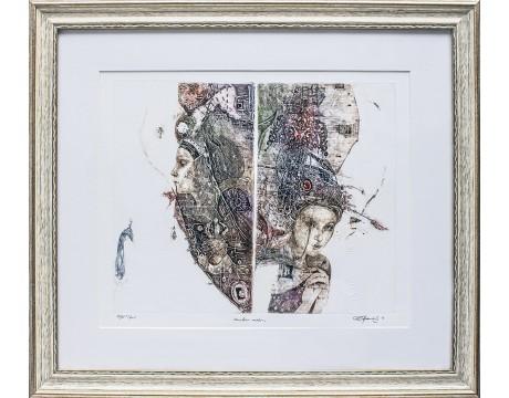 """Grafika """"Minties veidas"""", 52x59cm"""