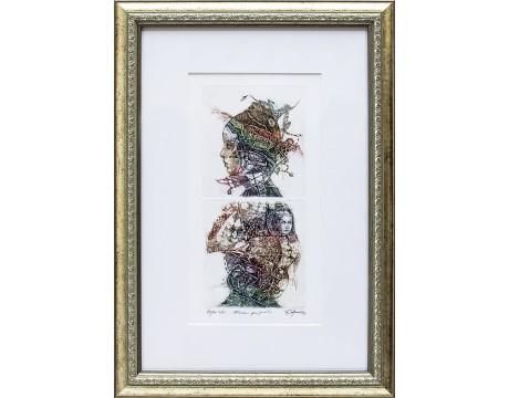 "Grafika ""Nerami prigimtis"", 48x35cm"