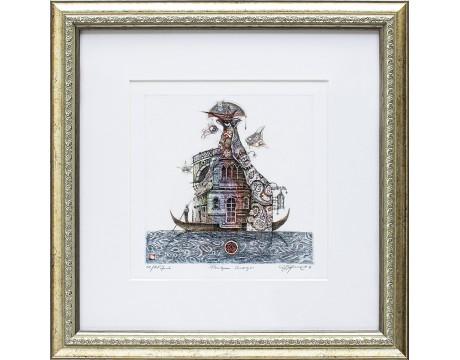 """Grafika """"Pasiilgau Venecijos"""", 40x40cm"""