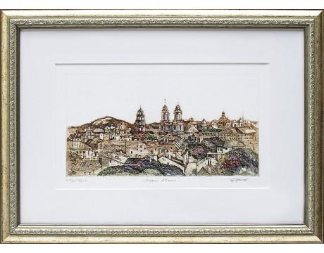 "Grafika ""Senasis Vilnius"", 38x52cm"