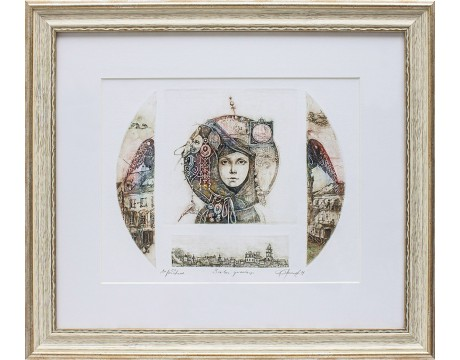 "Grafika ""Sielos spindesys"", 44x50cm"