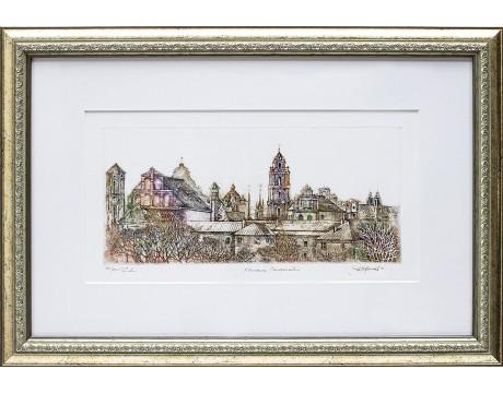 "Grafika ""Vilniaus Senamiestis"", 37x53cm"