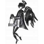Kalviškas laimės angelas su Jūsų užrašu
