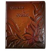 Vardinis nuotraukų albumas, natūralios odos viršeliu, dydis 34x32cm