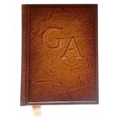 Vardinė svečių knyga odiniu viršeliu, A4