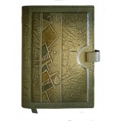 """Kalendorius/darbo knyga """"Ornamentas"""" odiniu viršeliu, A5"""