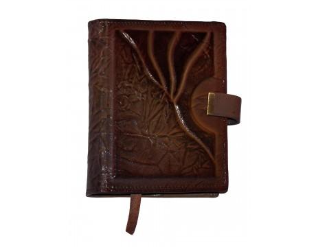 Dėklas su darbo knyga, viduje kišėnėlės, odinis, A6