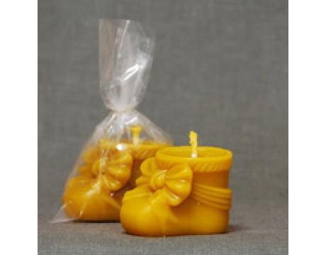 """Bičių vaško žvakė """"Batukas"""""""
